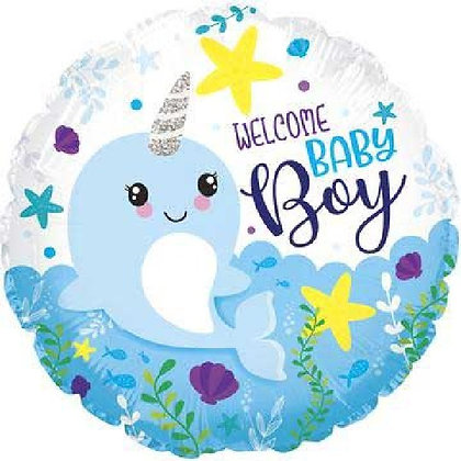 Blue Baby Boy Foil Balloon