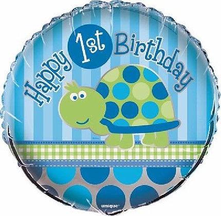 Blue 1st Birthday Foil