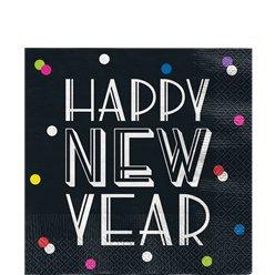 Neon Dots New Year Napkins