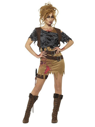 Deluxe Zombie Huntress - Adult Women's