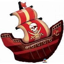 Jolly Roger Pirate Ship Super Shape Foil Balloon