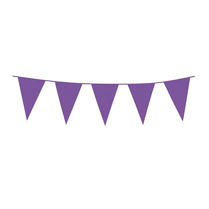 Purple Plastic Bunting