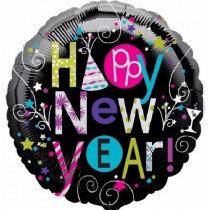 Happy Playful New Year Std Foil