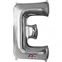 Super Shape Silver Letter E