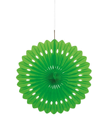 "Lime Green 16"" Paper Fan"
