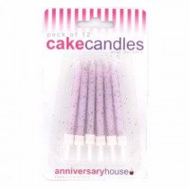 Lilac Glitter Candles