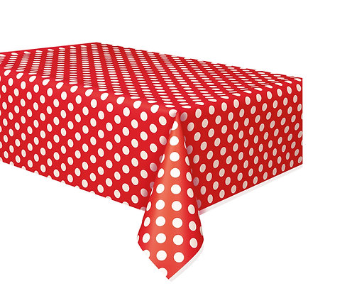 Red Dotty Tablecover