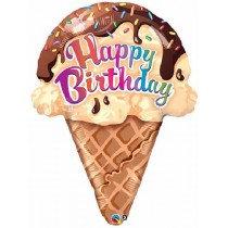 Birthday Ice Cream Cone Super Shape