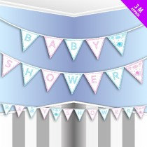 Pink/Blue Baby Shower Bunting