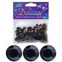 Black Diamante Confetti Large