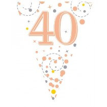 Rose Gold Age 40 Bunting