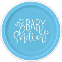 Blue Baby Shower Plates