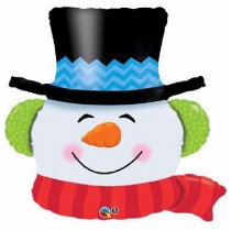 Smiling Snowman Super Shape Balloon
