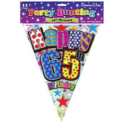 Multi-Colour Age 65 Bunting