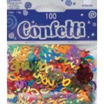 Multi-Colour Age 100 Confetti