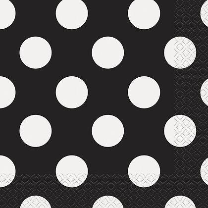 Black Dotty Napkins