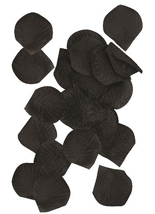 Black Fabric Petals