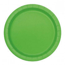 Lime 7 inch Paper Plates