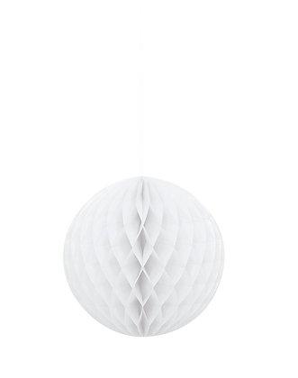 """White 8"""" Paper Honeycomb Ball"""