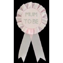 Pink Mum To Be Rosette