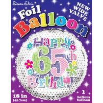 Age 65 Foil Balloon
