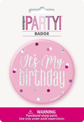 New Glitz Pink Badge