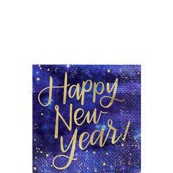 Happy New Year Beverage Napkins