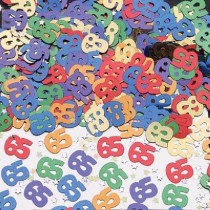 Multi-Colour Age 65 Confetti