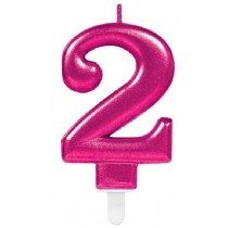 Pink Number 2 Candle