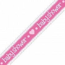Pink Baby Shower Banner