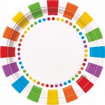 Rainbow Happy Birthday Plates