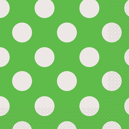 Lime Green Dotty Napkins