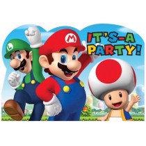Mario Invitations