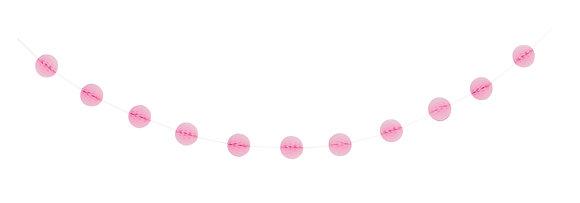 Pink 7ft Honeycomb Ball Garland