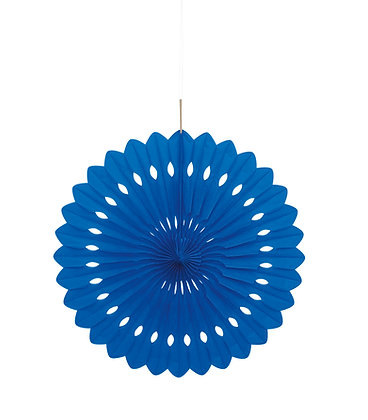 "Royal Blue 16"" Paper Fan"