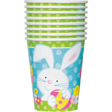 Spring Easter Bunny Paper Cups