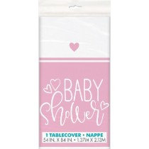 Pink Baby Shower Table Cover