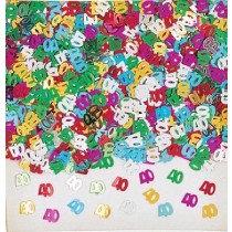 Multi-Colour Age 40 Confetti