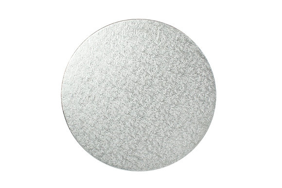 Silver Round Cake Cards