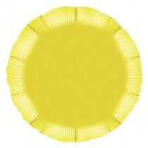 Yellow Round Foil Balloon