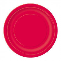 Red 7 inch Paper Plates