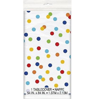 Rainbow Polka Dot Tablecover