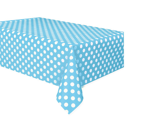Baby Blue Dotty Tablecover