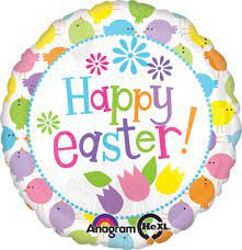 Happy Easter Chicks Std Foil Balloon
