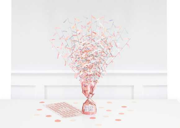 New Glitz Rose Gold Balloon Weight Centrepiece
