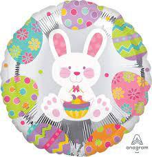 Easter Bunny Egg Hunt Std Foil Balloon