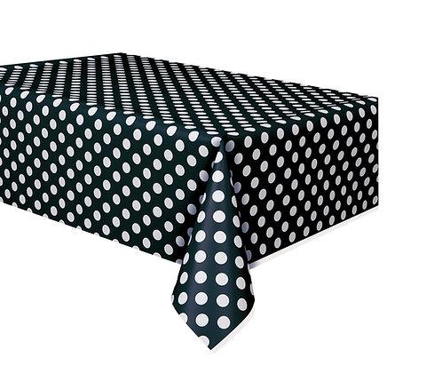 Black Dotty Tablecover