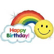 Happy Birthday Rainbow Super Shape