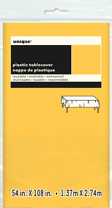 Yellow Plastic Tablecover
