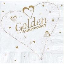Golden Anniversary Napkins